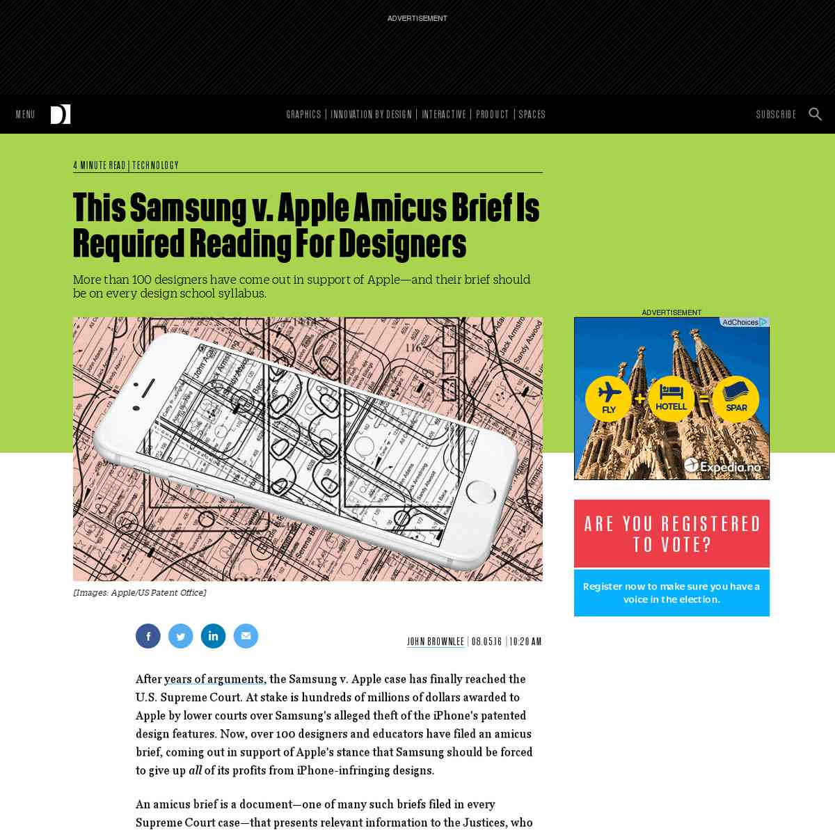 This Samsung v. Apple Amicus Brief Is Required Reading For Designers | Co.Design | business + design