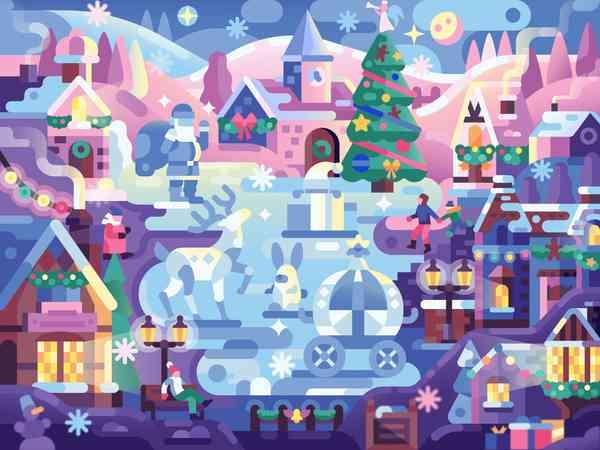 Ice Christmas Town