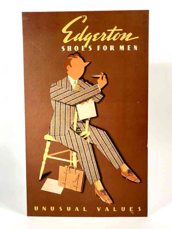 Edgerton Shoes for Men Stand-up Advertising Sign