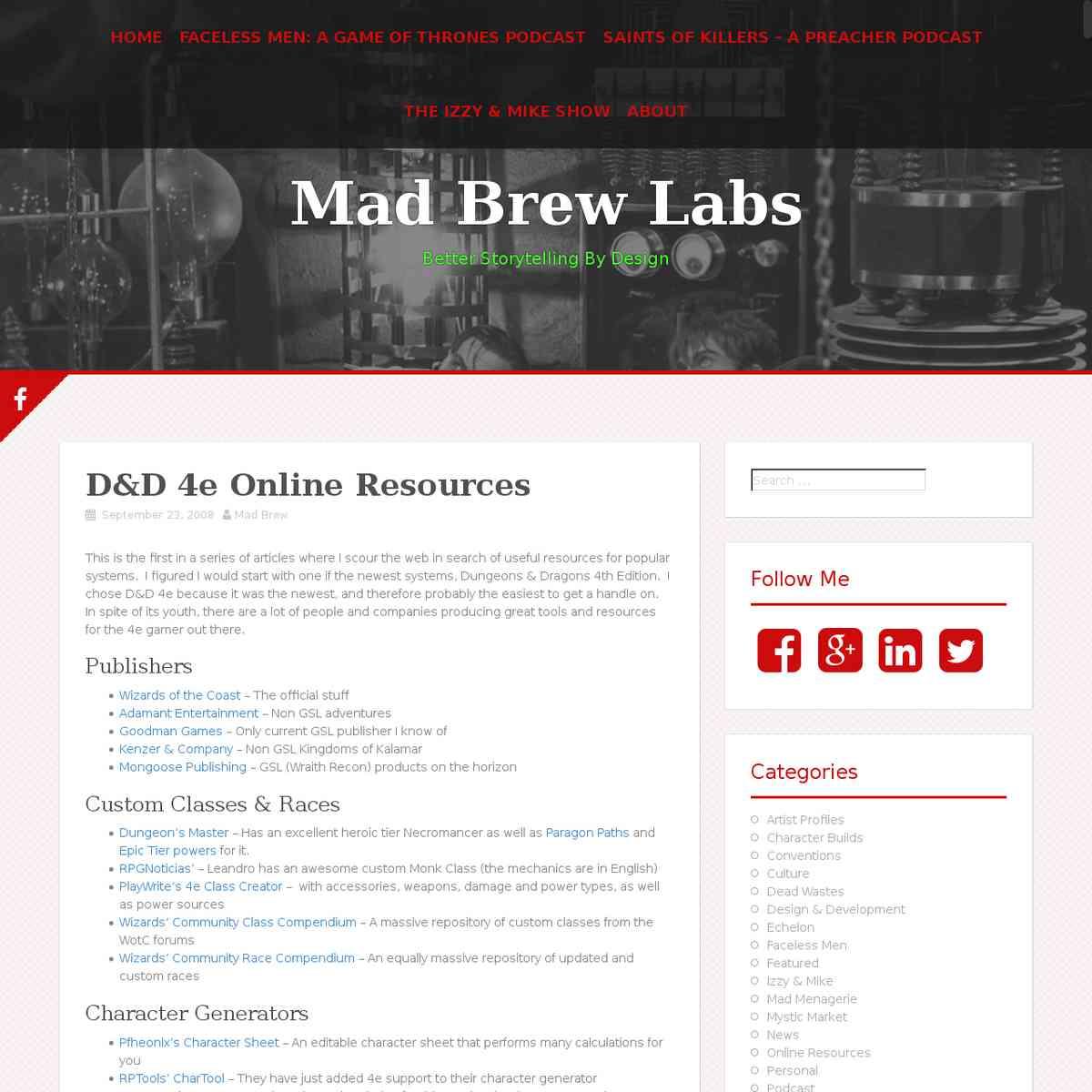 resource - 4ed Madbrewlabs Resources