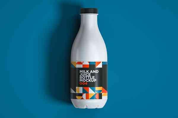 $ Milk And Juice Bottle Mockup 004