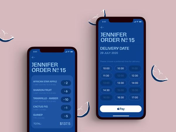 Ecommerce App Order Screens