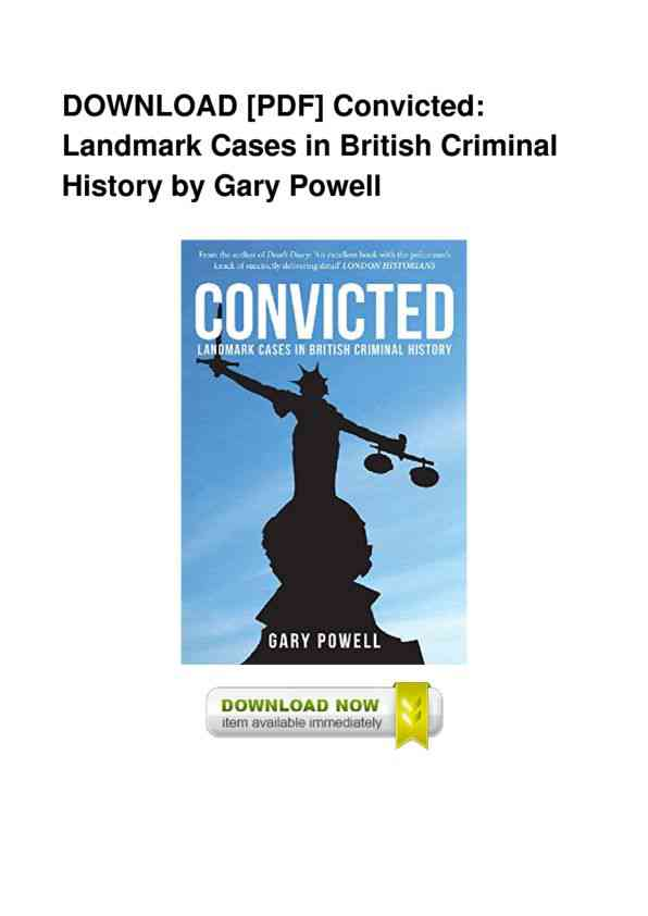 Full-Book-Convicted-Landmark-Cases-In-British-Criminal