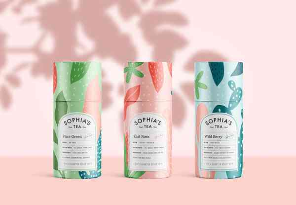 Sophia's Tea Branding
