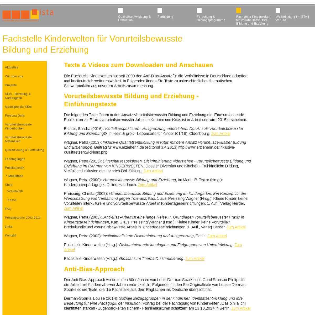 Fachstelle Kinderwelten für Vorurteilsbewusste Bildung und Erziehung