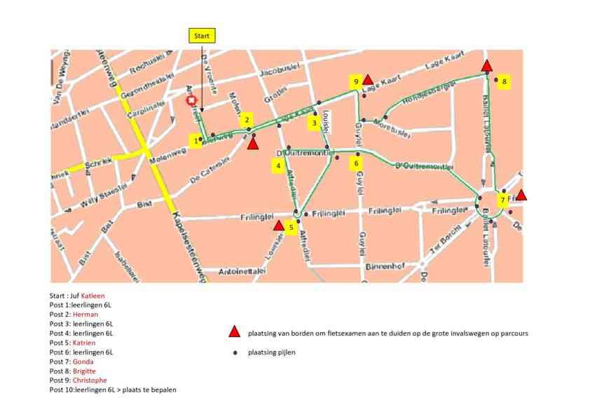 vero route Brasschaat plan
