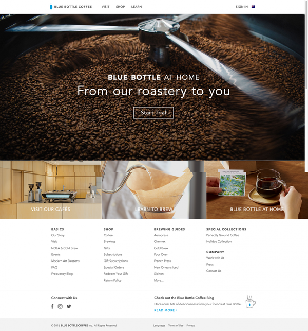 Coffee Roaster - Brewers, Subscriptions & Brewing Guides - Blue Bottle Coffee