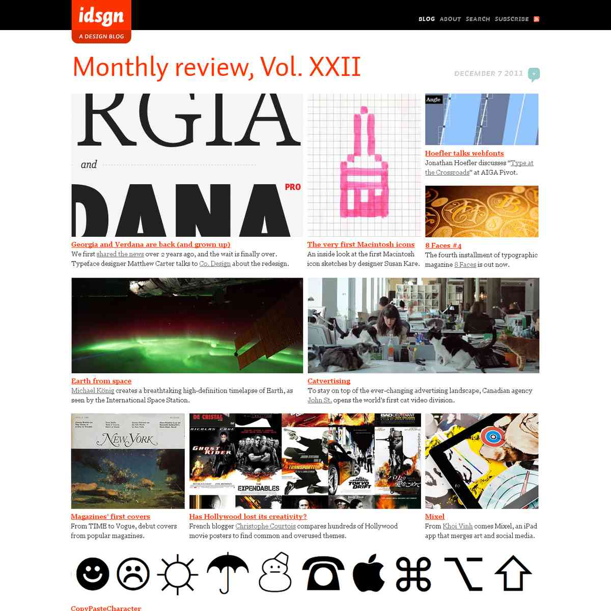 Monthly review, Vol. XXII: idsgn (a design blog)