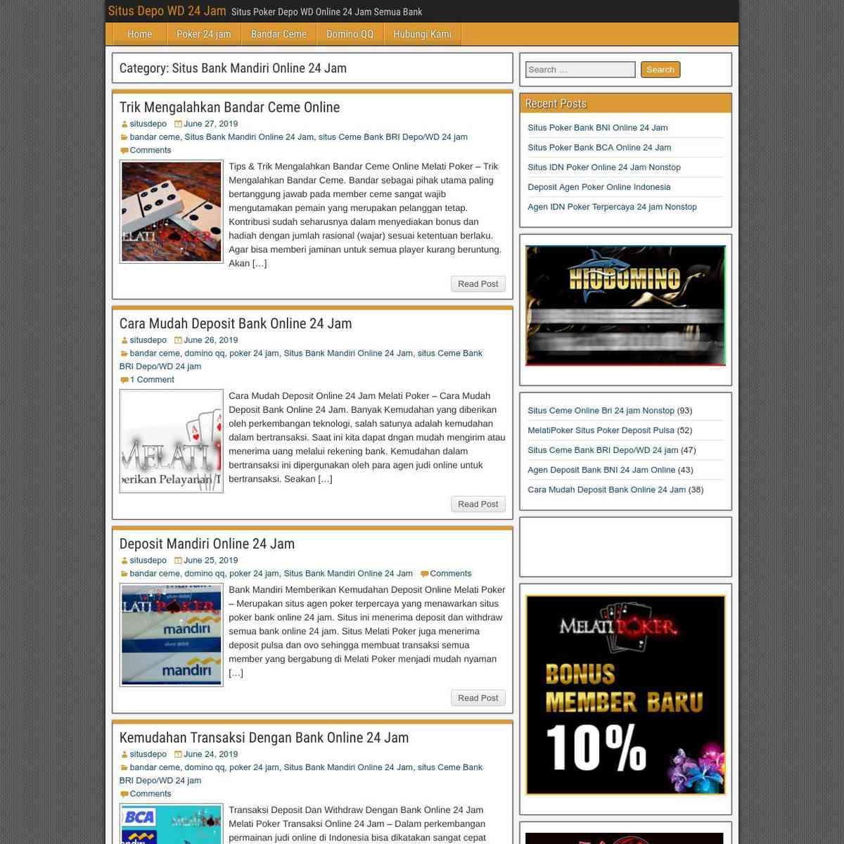 Situs Mandiri Online 24 Jam