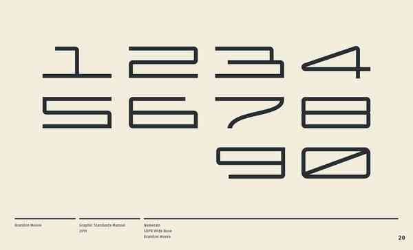 Brandon Moore: Graphic Standards Manual | Numbers