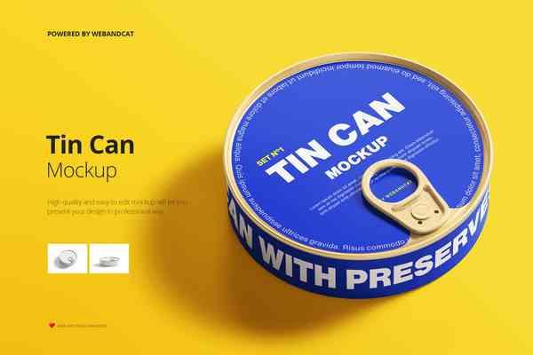 $ Tin Can Mockup