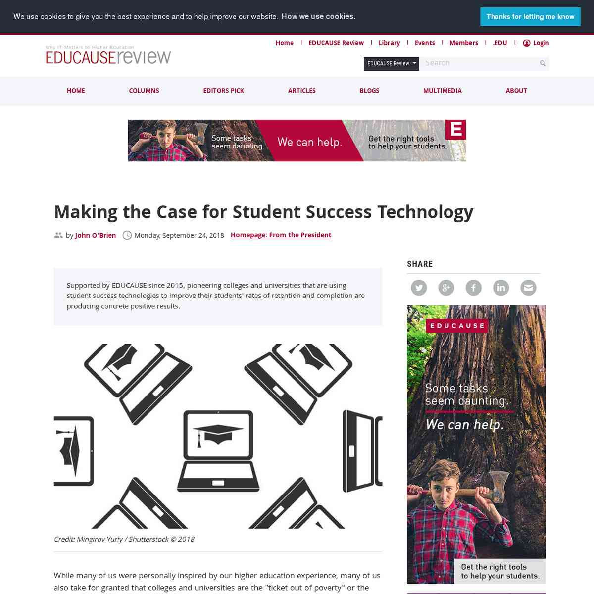 Making the Case for Student Success Technology
