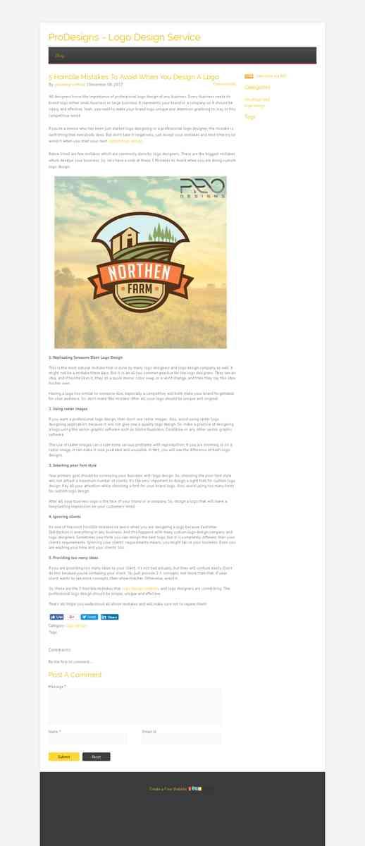 Blog  5 Horrible Mistakes To Avoid When You Design A Logo