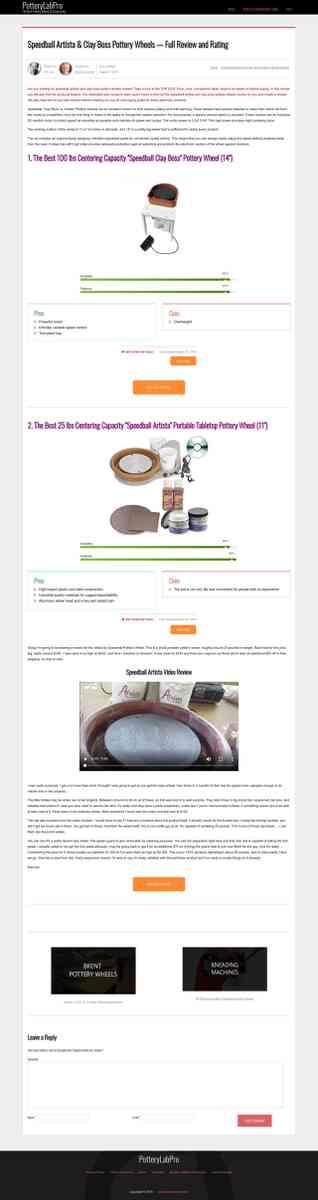 Speedball Artista & Clay Boss Pottery Wheels