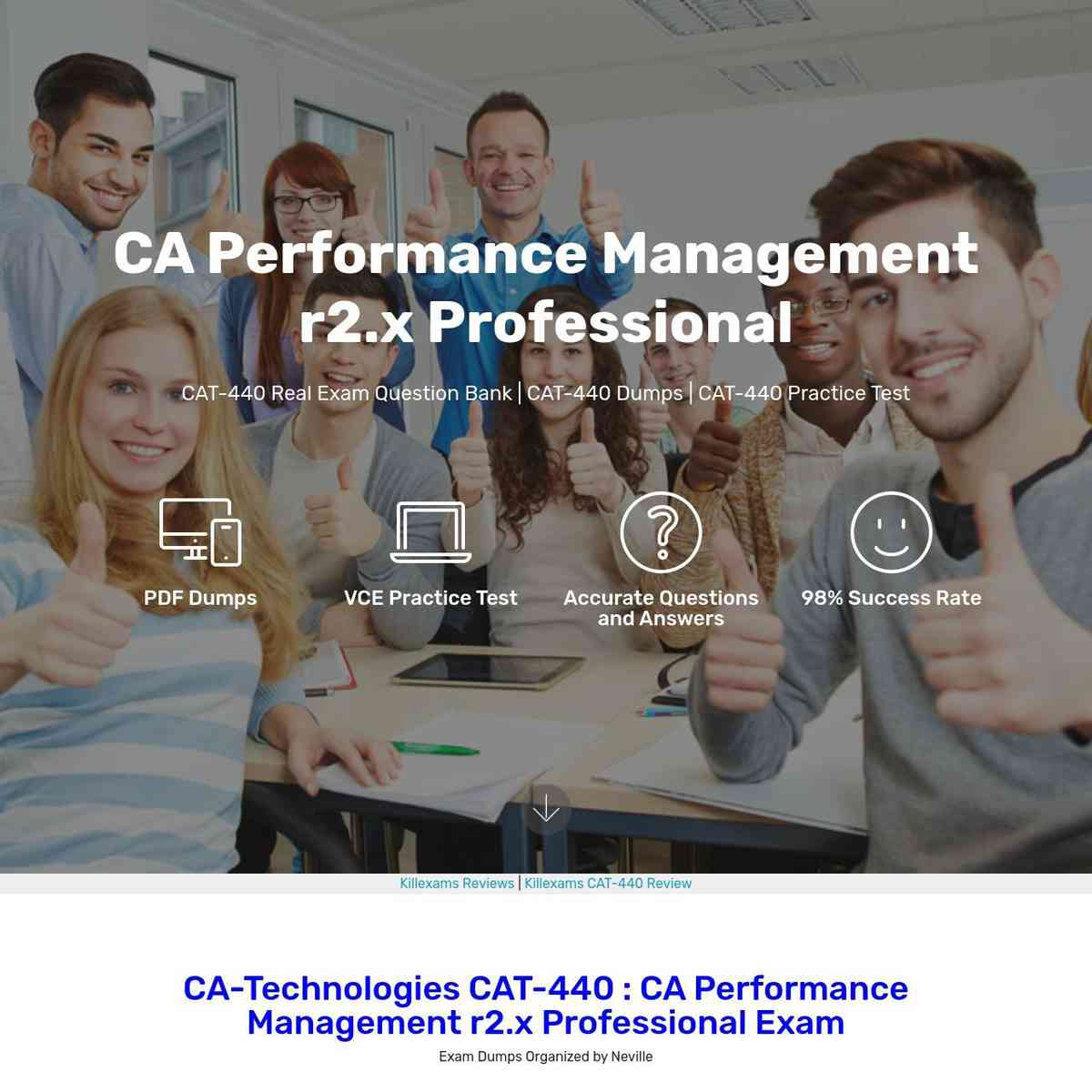 Get ready to download CAT-440 Latest Topics and pass exam