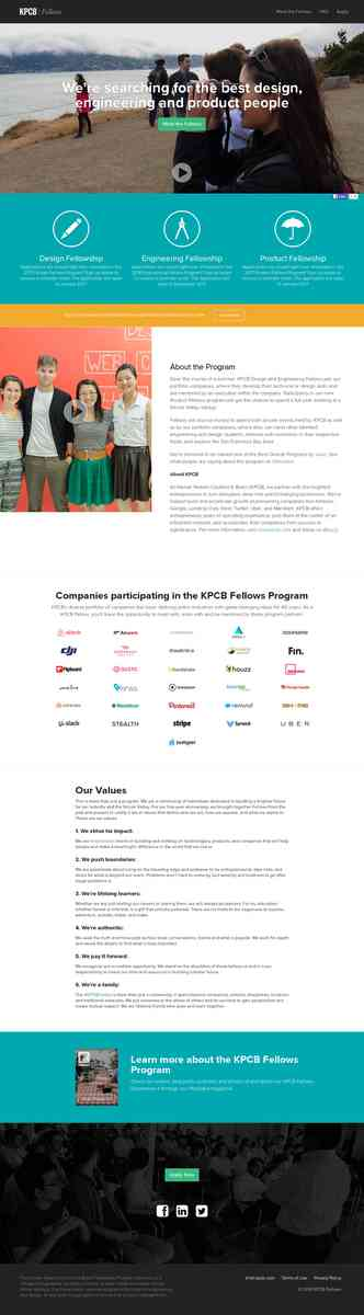 Jumpstart your career in Silicon Valley - KPCB Fellows