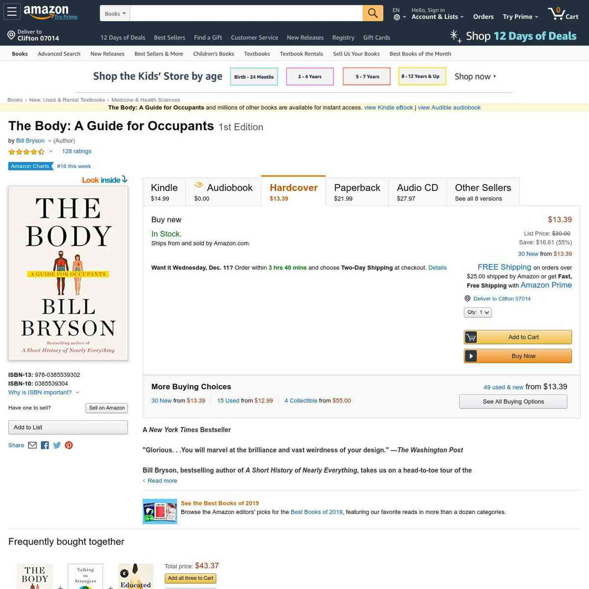 The Body: A Guide for Occupants: 9780385539302: Medicine & Health Science Books @ Amazon.com