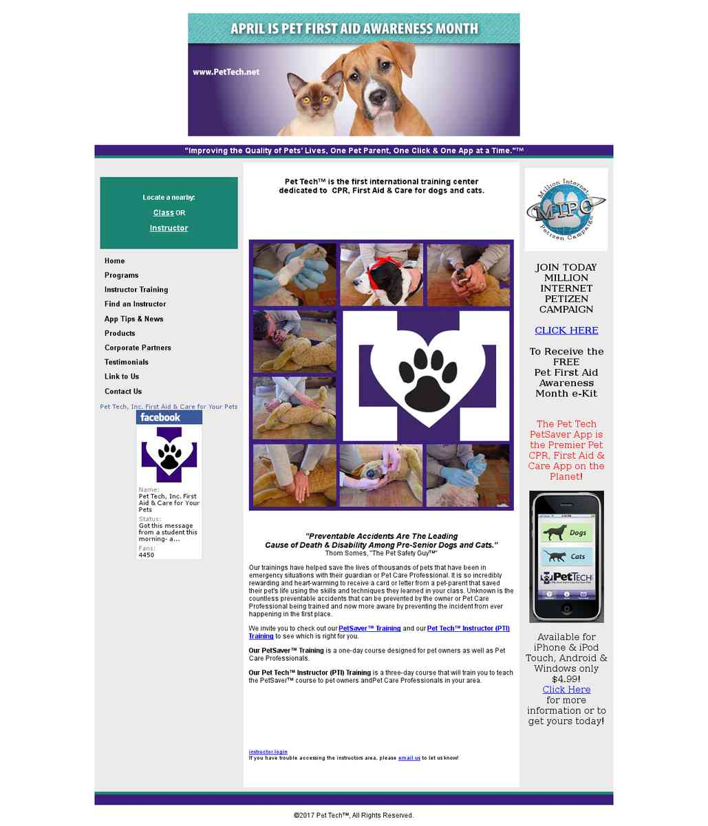Pet Tech - Pet FA & CPR Training