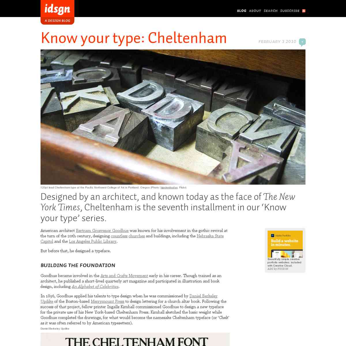 Know your type: Cheltenham