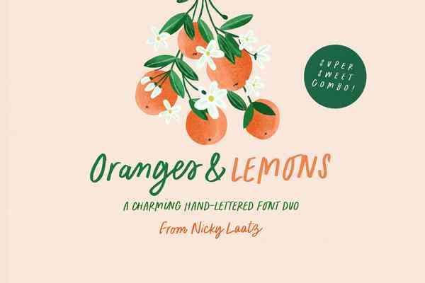 Oranges & Lemons Font Duo