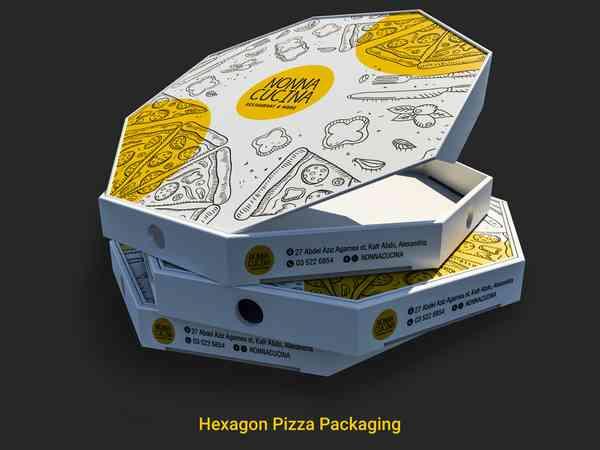 Hexagon Pizza Box