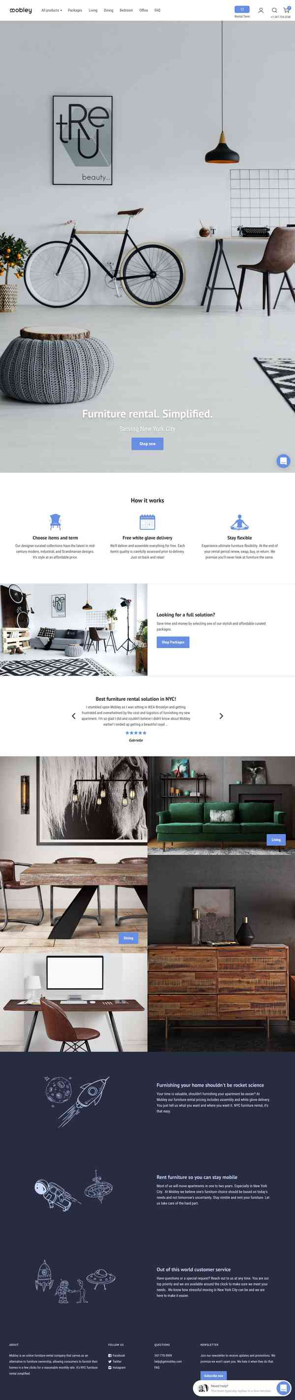 Mobley: NYC Furniture Rental. Simplified.
