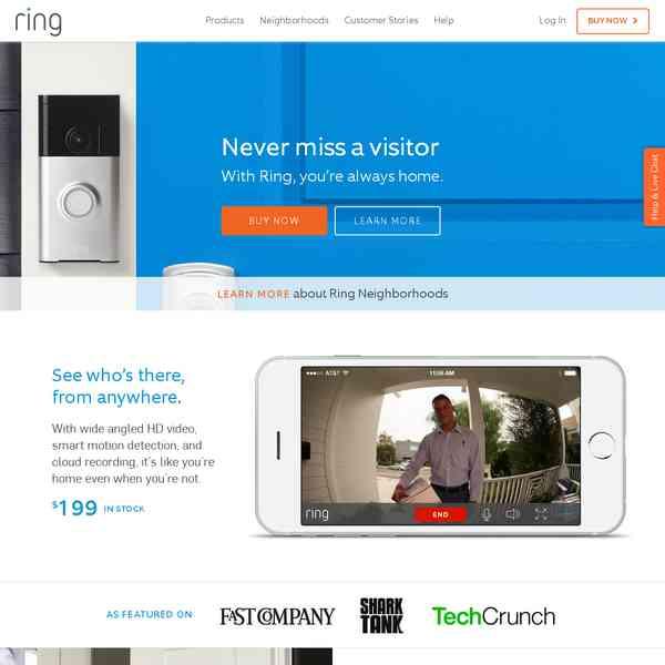 Ring Video Doorbell for Your Smartphone | Ring - SCE - Veille