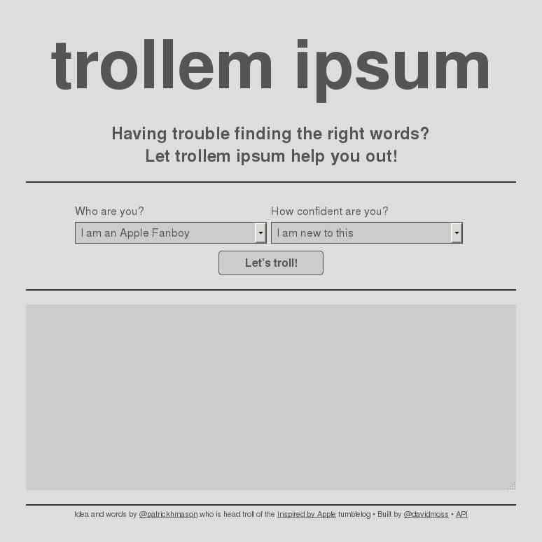 Trollem Ipsum