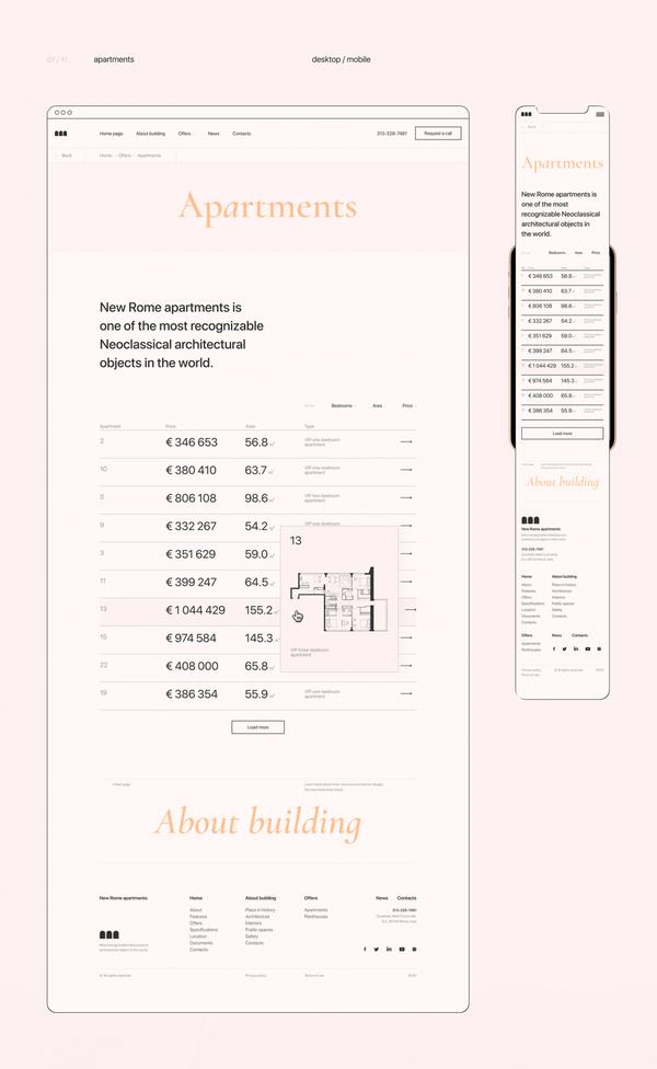 New Rome Apartments   Catalog