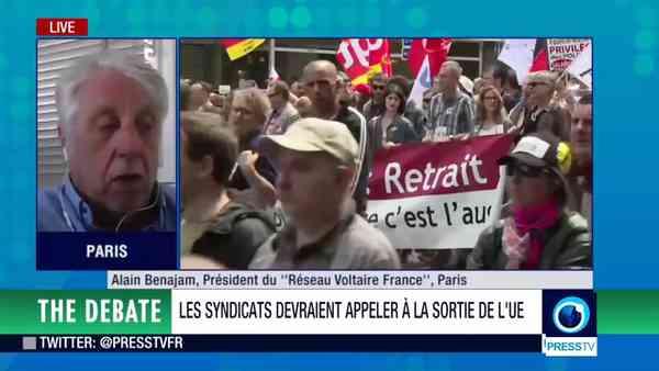 Loi Travail : interview de Pierre de Brague à la télévision iranienne (07/07/2016) - YouTube