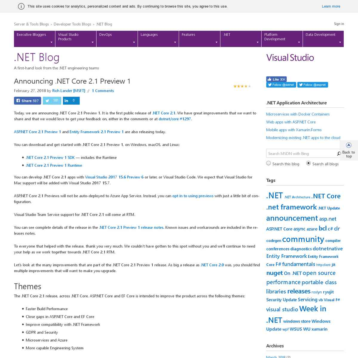 Announcing .NET Core 2.1 Preview 1 | .NET Blog