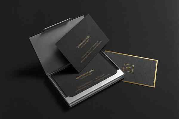 Premium Business Cards Mockup