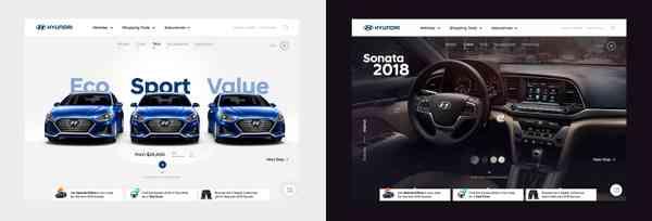 Hyundai website UX experiments. on Behance
