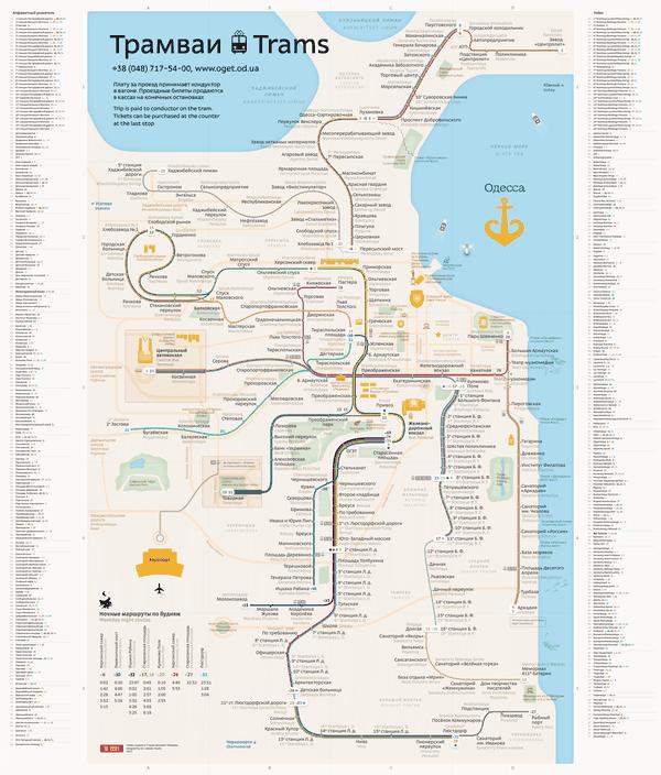 Odessa tram route map