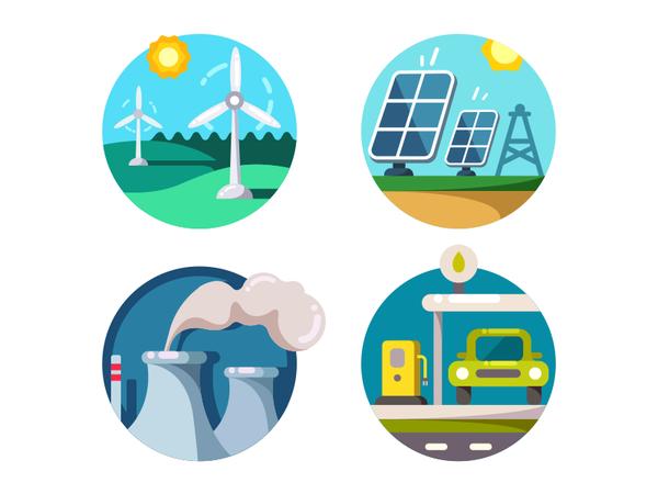 Energy saving icons