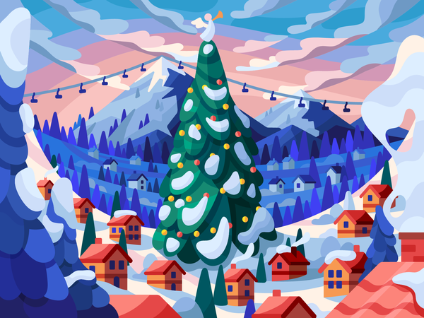 Christmas in Alps