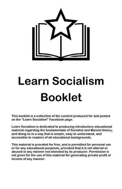 Learn Socialism - Printable Booklet