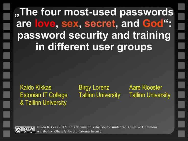"""The four most-used passwords are love, sex, secret, and God"": passwo…"