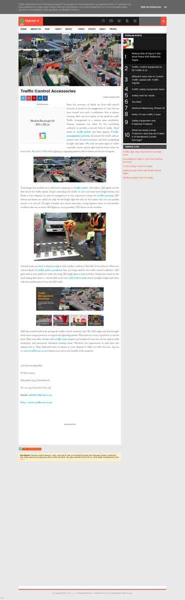 Traffic management Road cones: Traffic Control Accessories