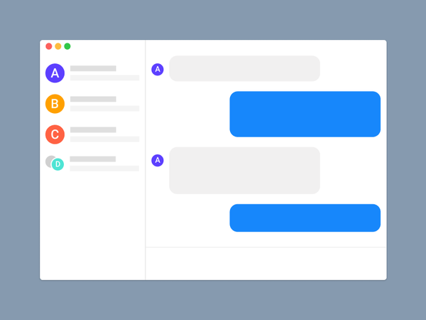 Messaging UI in Figma (Product Design)
