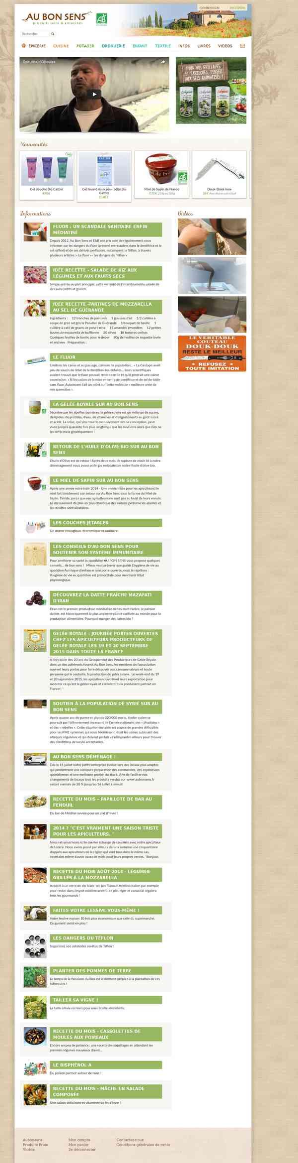 Produits sains & enracinés | Aubonsens