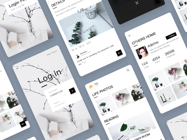 Photo Sharing APP Design by V。 - Dribbble