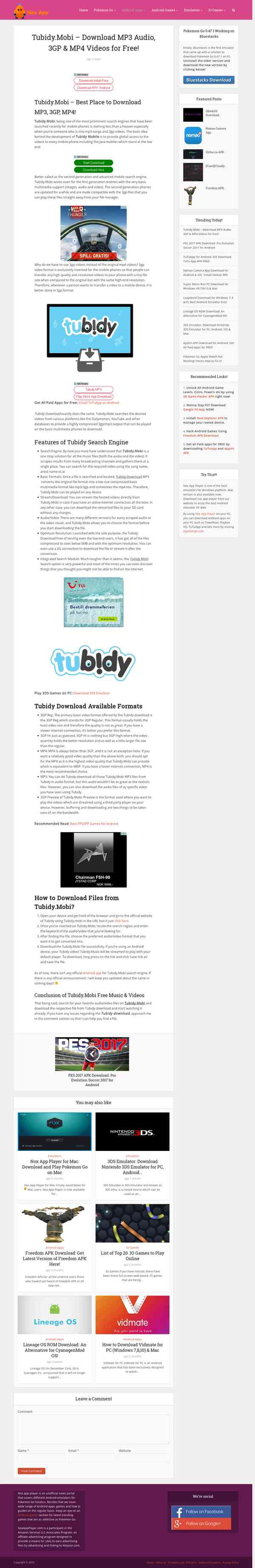 Tubidy Mobile - Nox app player