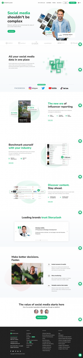 Storyclash: Measure, optimize, and communicate your social media value