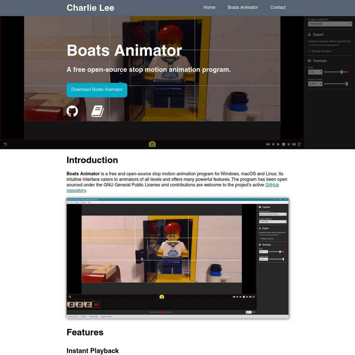 Boats Animator - Charlie Lee