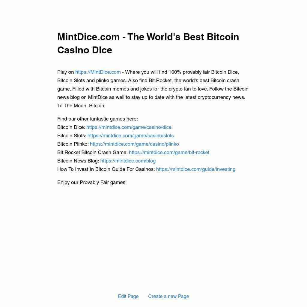 Best Online Casino USA Information Bitcoin News Blog Links