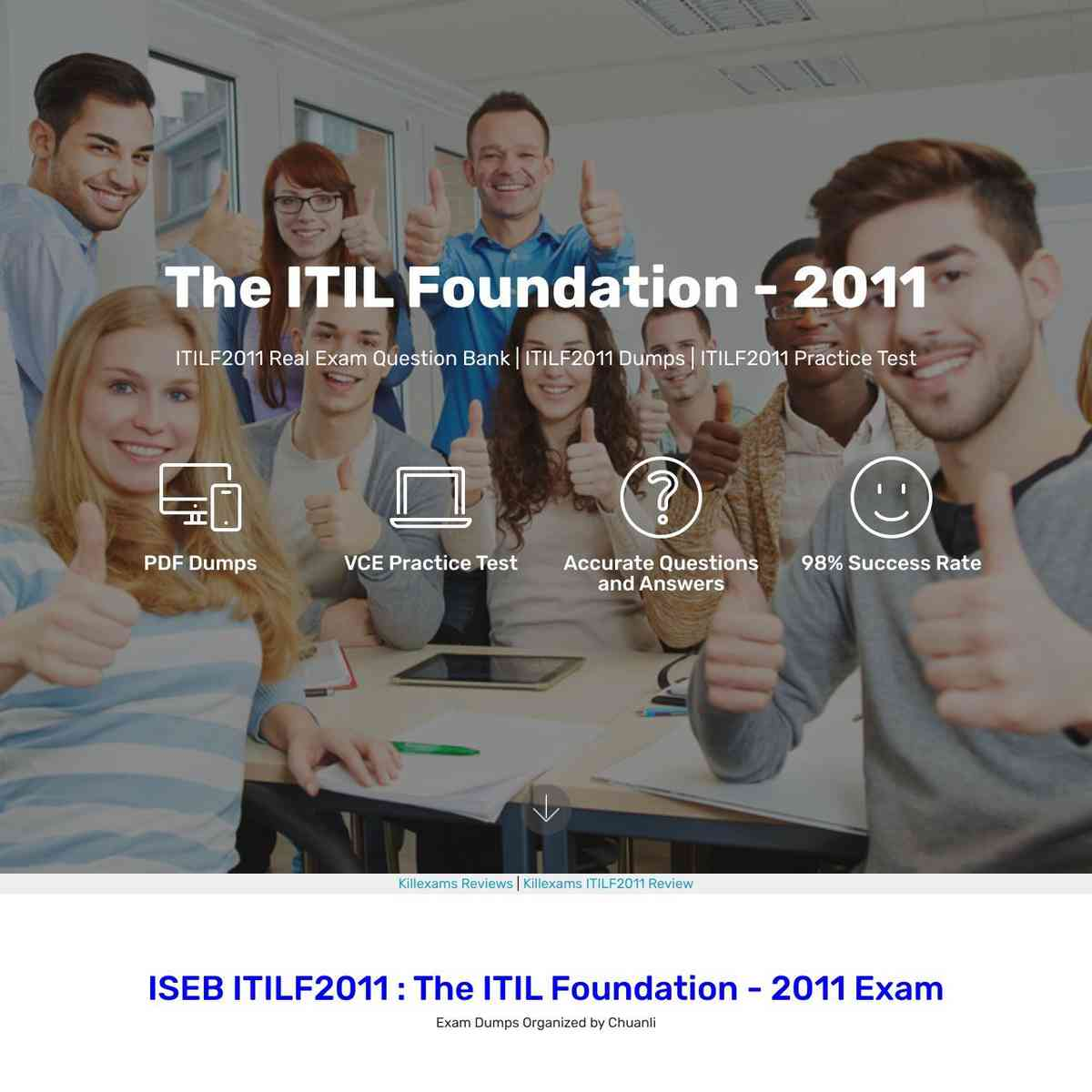 Get high marks in ITILF2011 exam with these Questions and Answers and Latest Questions