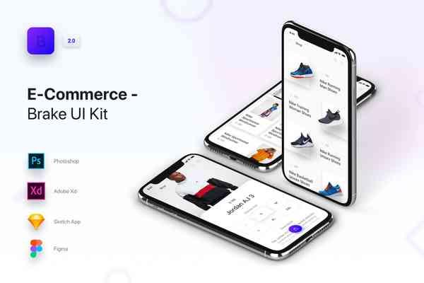 $ Brake UI Kit 2.0. E-Commerce Shop Store