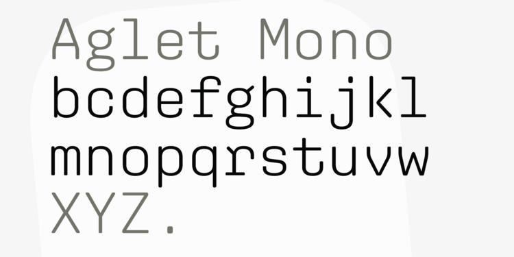 XYZ Type – Fonts – Aglet Mono