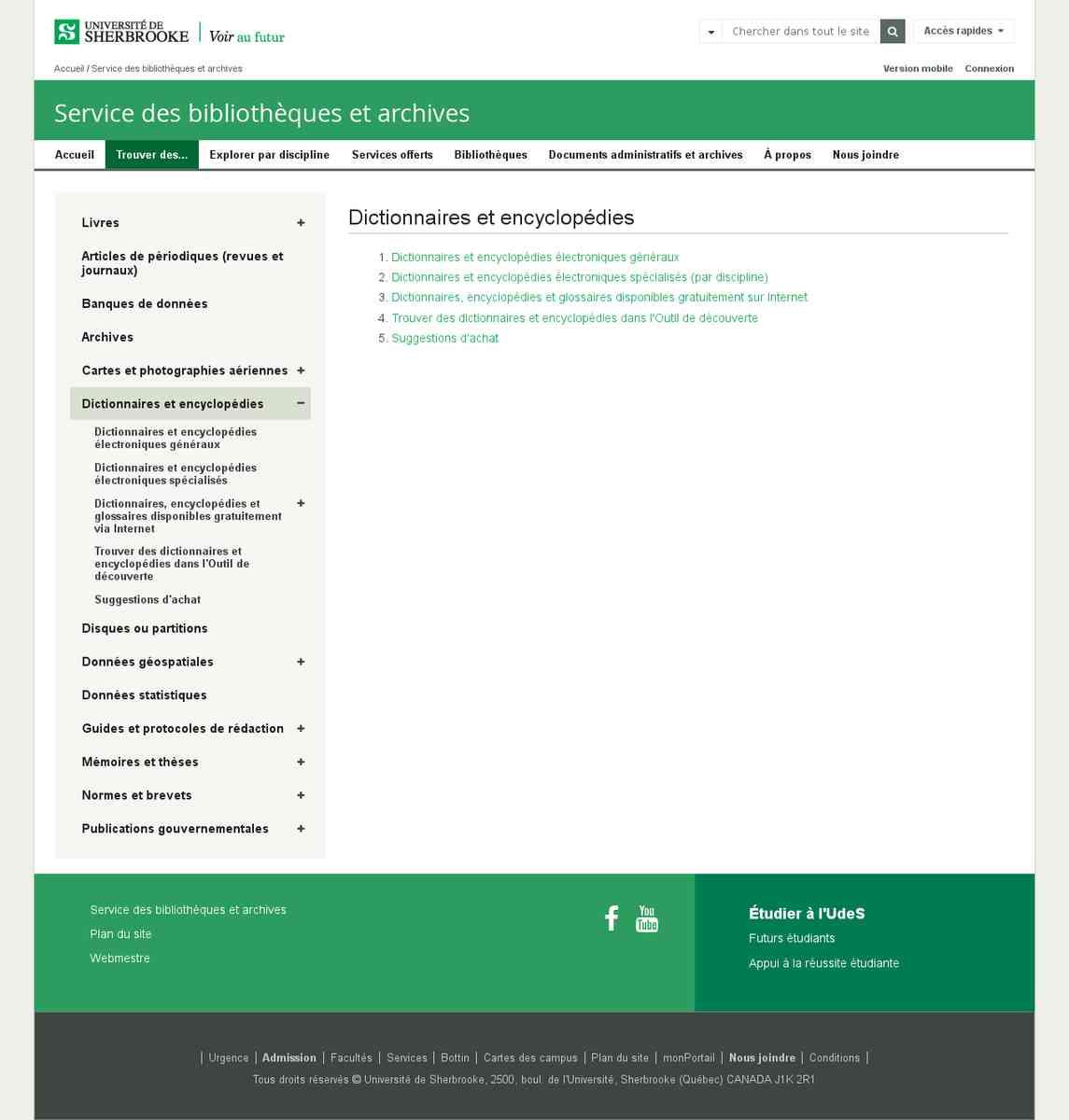 Répertoire canadien de sites de dictionnaires toutes spécialités